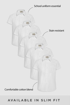Five Pack Short Sleeve Formal Shirt (3-16yrs)