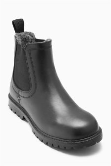 Chelsea Boots With Warm Lining (Older Boys)