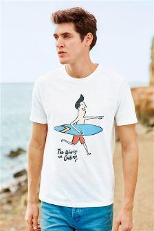 Ecru Surf Man T-Shirt