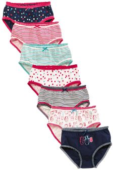 Navy/Pink Briefs Seven Pack (1.5-12yrs)