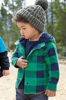 Green Hooded Fleece Shacket (3mths-6yrs)