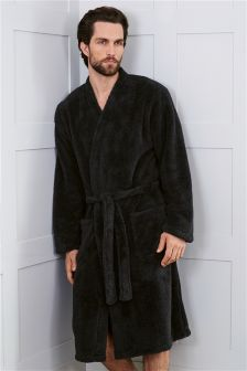 Black Fleece Robe