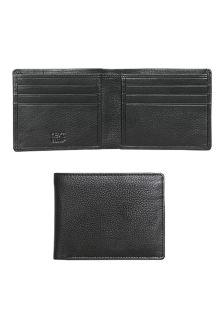 Black Leather Two Fold Wallet
