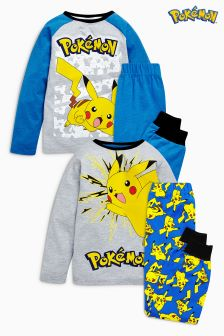 Blue Pokemon® Pyjamas Two Pack (3-12yrs)
