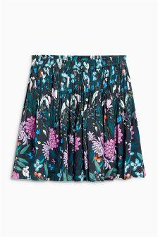 Navy Floral Flippy Skirt (3-16yrs)