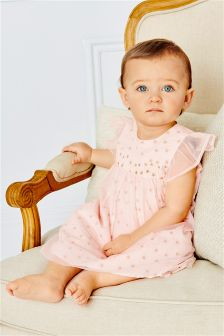 Pink Star Dress (0mths-2yrs)