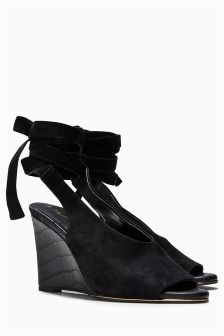 Leather Wrap Wedges