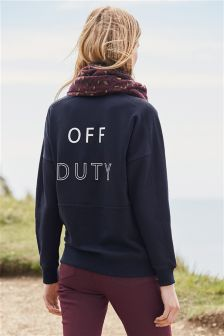 Slogan Graphic Sweater