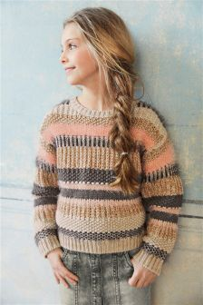 Multi Stripe Fluffy Sweater (3-16yrs)