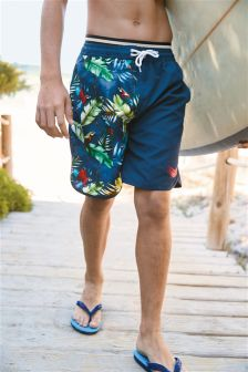 Navy Printed Shorts (3-16yrs)
