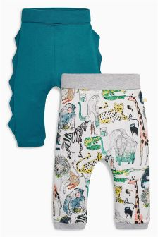 Multi Roll Top Joggers Two Pack (0mths-2yrs)