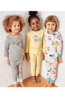 Multi Superhero Snuggle Pyjamas Three Pack (9mths-8yrs)