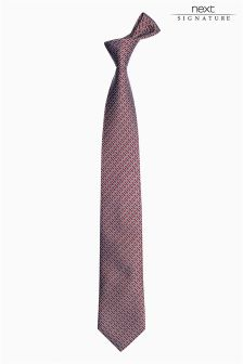 Burgundy Signature Link Pattern Tie