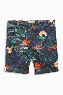 Blue Floral Print Shorts (3-16yrs)