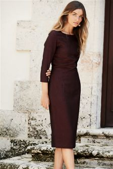 Berry Textured Dress