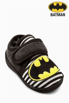 Black Batman® Slippers (Younger Boys)