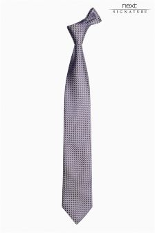 Silver Signature Made In Italy Tie