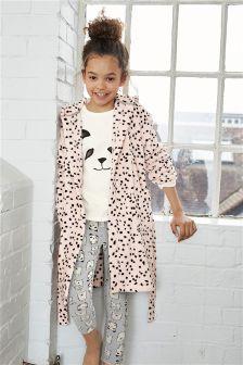 Pink Spot Robe (3-16yrs)