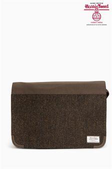 Brown Messenger Using Harris Tweed Fabric