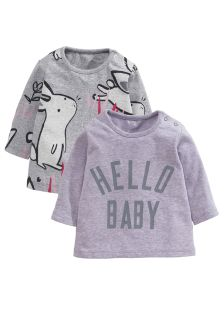 Grey T-Shirts Two Pack (0mths-2yrs)
