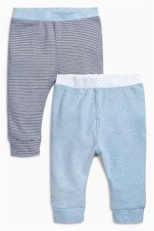 Blue Stripe Leggings Two Pack (0mths-2yrs)