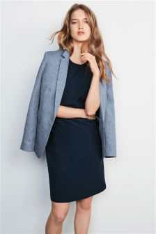 Workwear Mock Wrap Dress