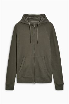 Pique Zip Through Hoody