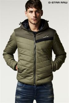 G-Star Green Attacc Padded Hooded Jacket