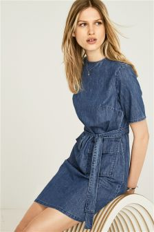 Mid Blue Denim Dress