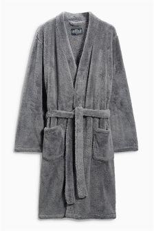Charcoal Fleece Robe