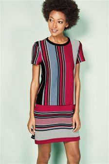 Red/Blue Stripe Dress