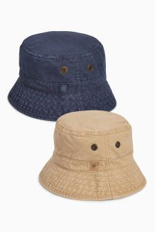 Navy/Stone Fisherman's Hats Two Pack (Older Boys)
