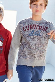 Converse Grey Graphic Sweater