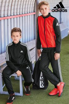 adidas Black/Red Performance Tracksuit