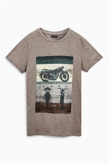 Grey Motorbike T-Shirt (3-16yrs)