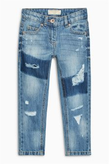 Denim Distressed Jeans (3-16yrs)
