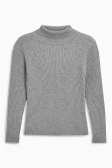 Grey Roll Neck Sweater (3-16yrs)