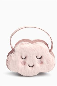 Pink Faux Fur Cloud Bag