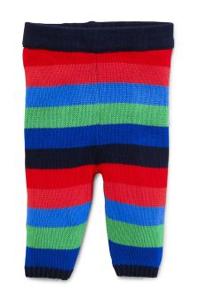Multi Knitted Stripe Leggings (0mths-2yrs)