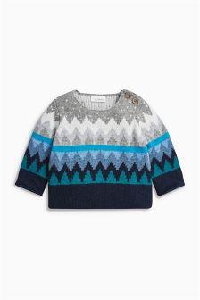 Pullover mit Zickzackmuster, mehrfarbig (0 Monate bis 2 Jahre)