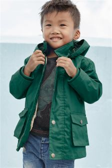 Green 2 In 1 Coated Cotton Jacket (3mths-6yrs)