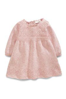Pink Knitted Jumper Dress (0-18mths)