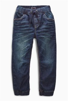 Denim Dark Blue Lined Joggers (3-16yrs)