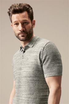 Short Sleeve Grid Polo