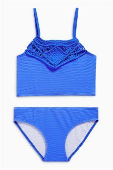 Cobalt Macramé Bikini (3-16yrs)