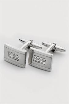 Diamanté Style Cufflinks
