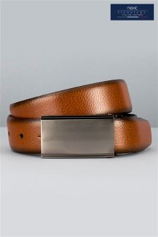 Black/Tan Signature Italian Reversible Leather Belt