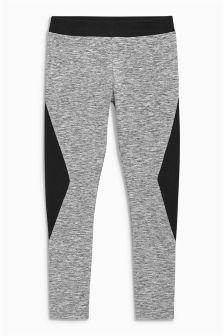 Grey Black Panel Leggings (3-16yrs)