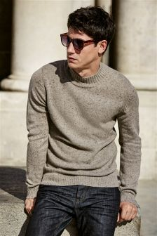 Taupe Nep Turtle Neck