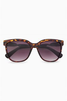 Tortoiseshell Effect Twist Arm Sunglasses